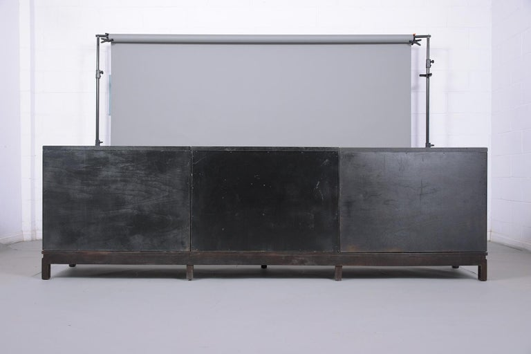 Mid-Century Modern Ebonized Credenza For Sale 11