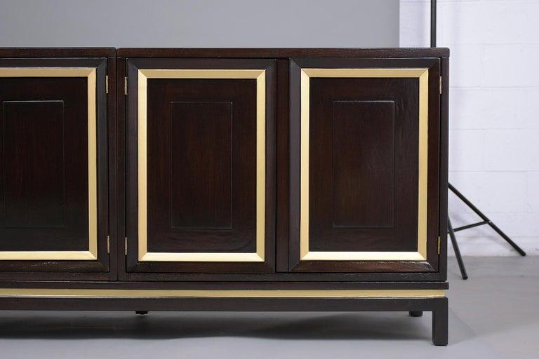 Mid-Century Modern Ebonized Credenza For Sale 2