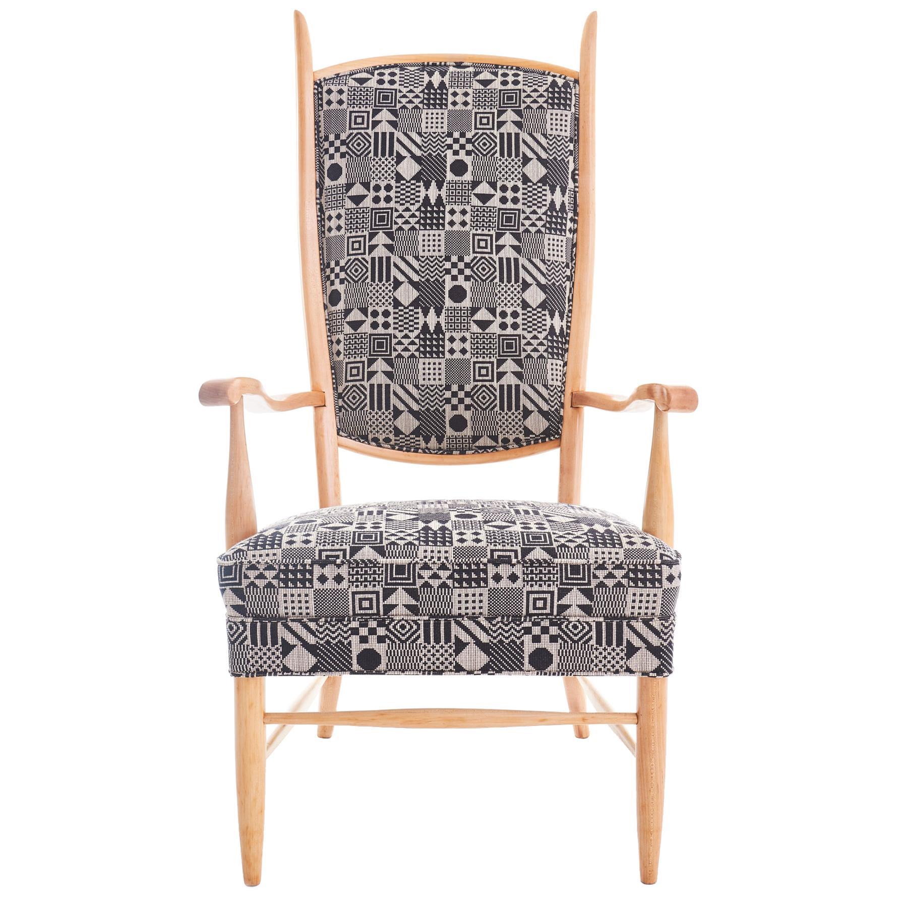 Midcentury Maxwell Royal Chair Company High Back Armchair