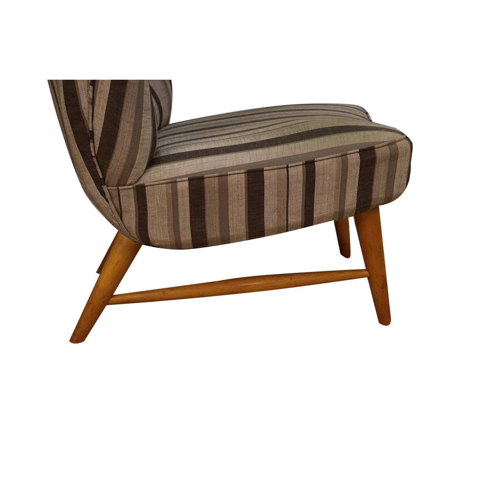 Midcentury Elias Svedberg Knoll 201 Wingback Armless Chair
