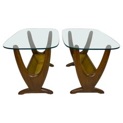 Mid-Century End Tables W/ Planters by Adrian Pearsall, a Pair