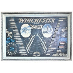Midcentury Era Winchester Molded Ammunition Advertising Store Wall Display