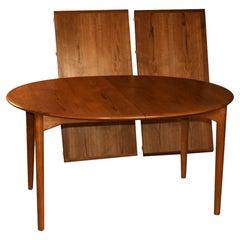 Mid Century Erik Buck for Povl Dinesen Danish Teak Extendable Dining Table