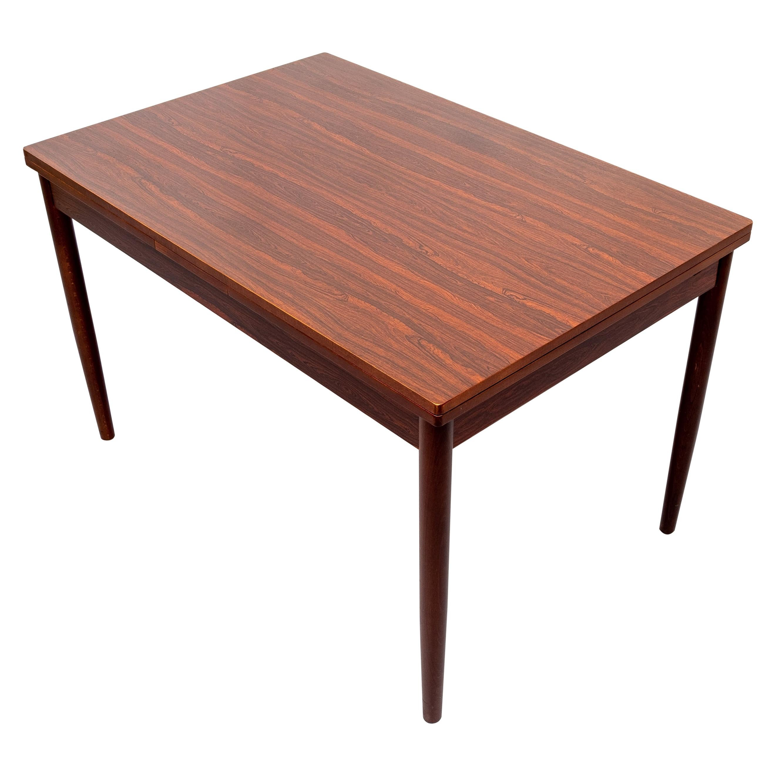 Mid Century Expendable Rosewood Dining Table, 1960s