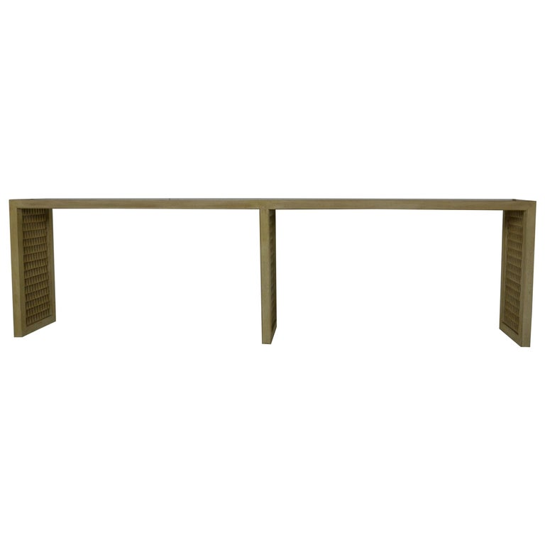 Midcentury Extra Long Sofa Table For Sale At 1stdibs
