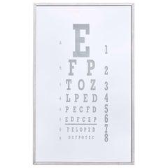Midcentury Eye Chart Mirror