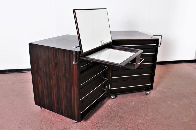 Mid-Century F. Lenci Bernini Chest of Drawers with Dressing Table, Italy 70s For Sale 4
