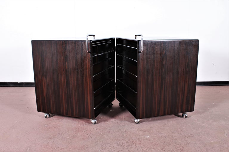 Italian Mid-Century F. Lenci Bernini Chest of Drawers with Dressing Table, Italy 70s For Sale