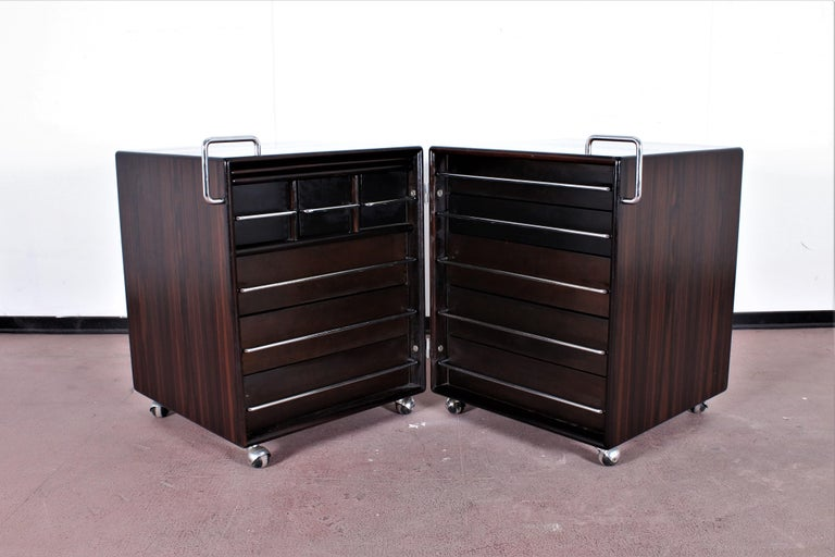 Mid-Century F. Lenci Bernini Chest of Drawers with Dressing Table, Italy 70s In Good Condition For Sale In Palermo, IT