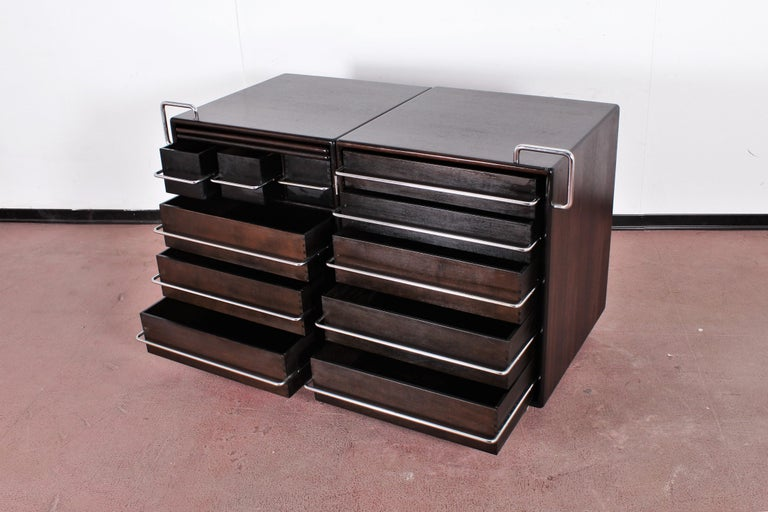 Mirror Mid-Century F. Lenci Bernini Chest of Drawers with Dressing Table, Italy 70s For Sale