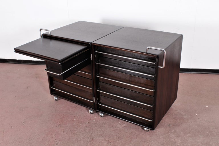 Mid-Century F. Lenci Bernini Chest of Drawers with Dressing Table, Italy 70s For Sale 1