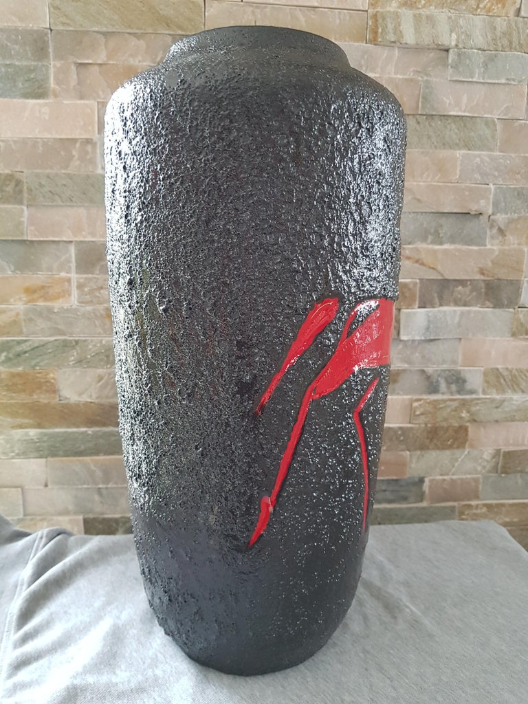 Midcentury Fat Lava Vase from Scheurich, Germany, 1960 For Sale 1