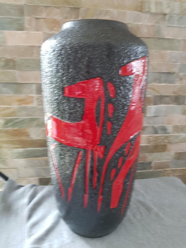 Midcentury Fat Lava Vase from Scheurich, Germany, 1960 For Sale 2