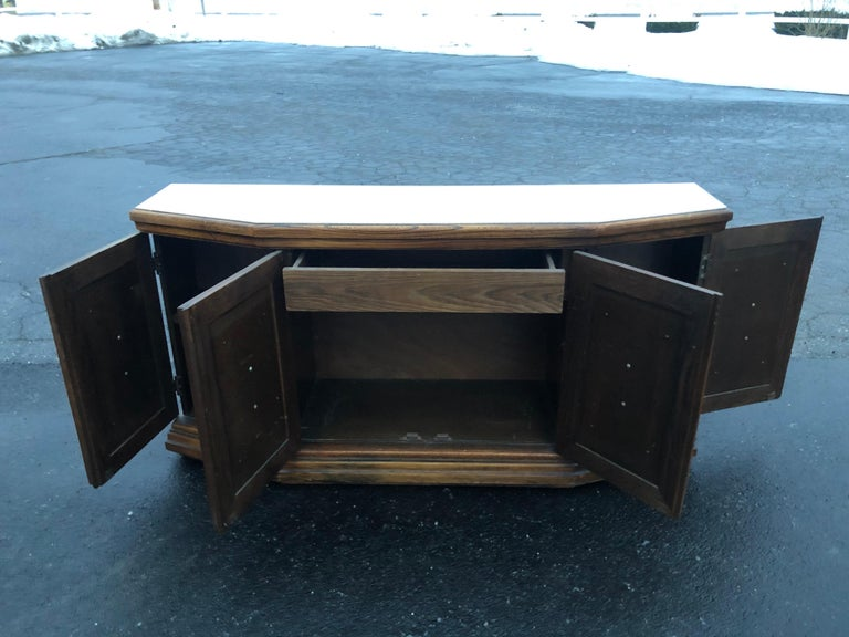 Mid Century Faux Bamboo Credenza For Sale 6