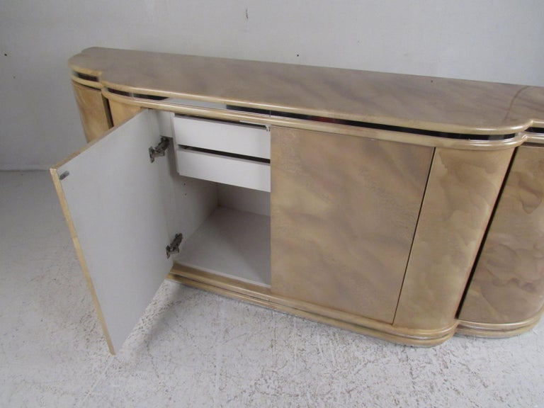 Midcentury Faux Marble Credenza For Sale 12