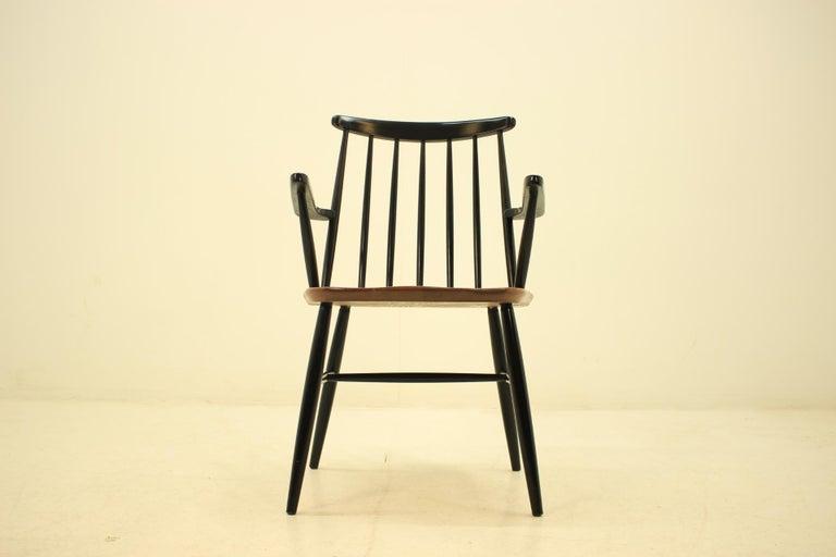 Lacquered Mid Century Finnish Armchair, Ilmari Tapiovaara, 1960s For Sale