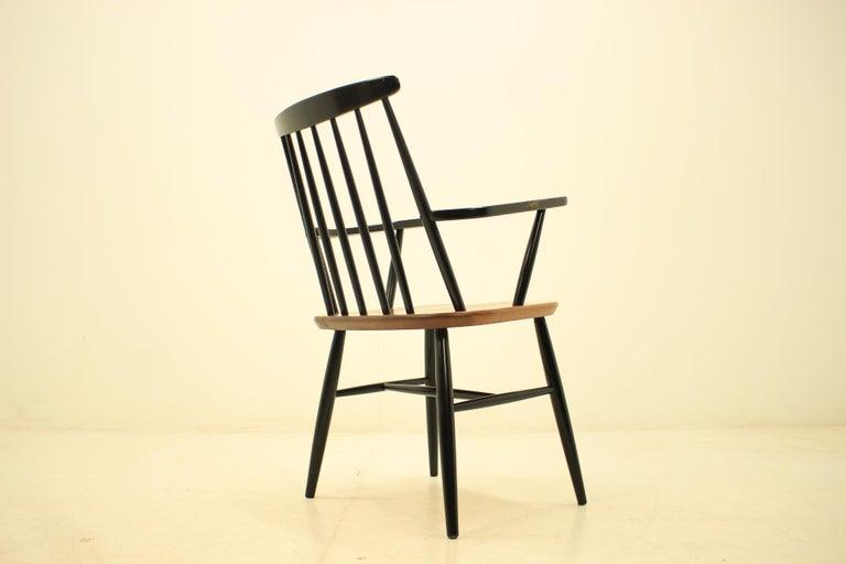 Mid Century Finnish Armchair, Ilmari Tapiovaara, 1960s In Good Condition For Sale In Barcelona, ES