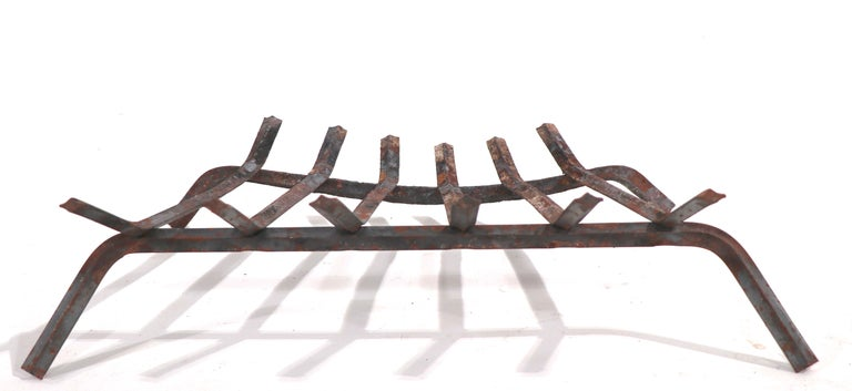 American Mid Century Fireplace Insert Grate Log Holder For Sale
