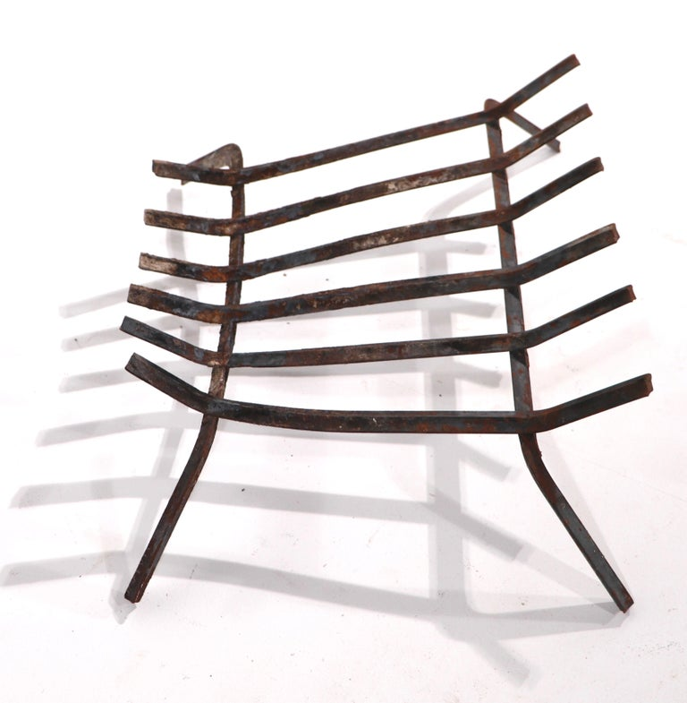 Mid Century Fireplace Insert Grate Log Holder In Good Condition For Sale In New York, NY