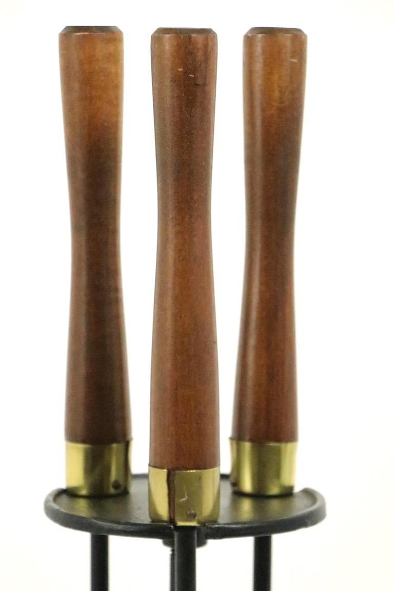 Mid-Century Modern Mid Century  Fireplace Tools Set by Seymour For Sale