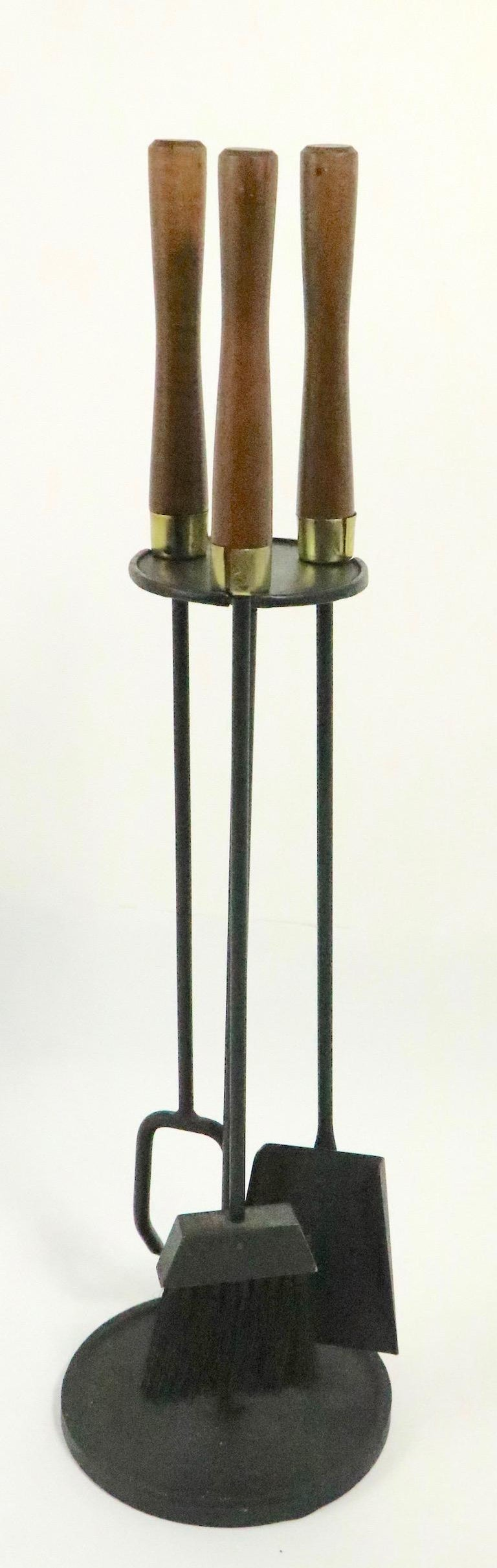 20th Century Mid Century  Fireplace Tools Set by Seymour For Sale