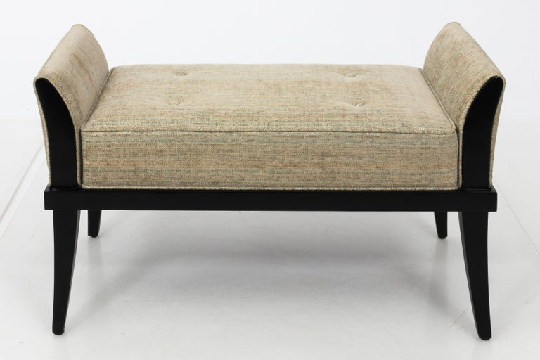 Mid Century Flared Armed Bench In Good Condition For Sale In New York, NY