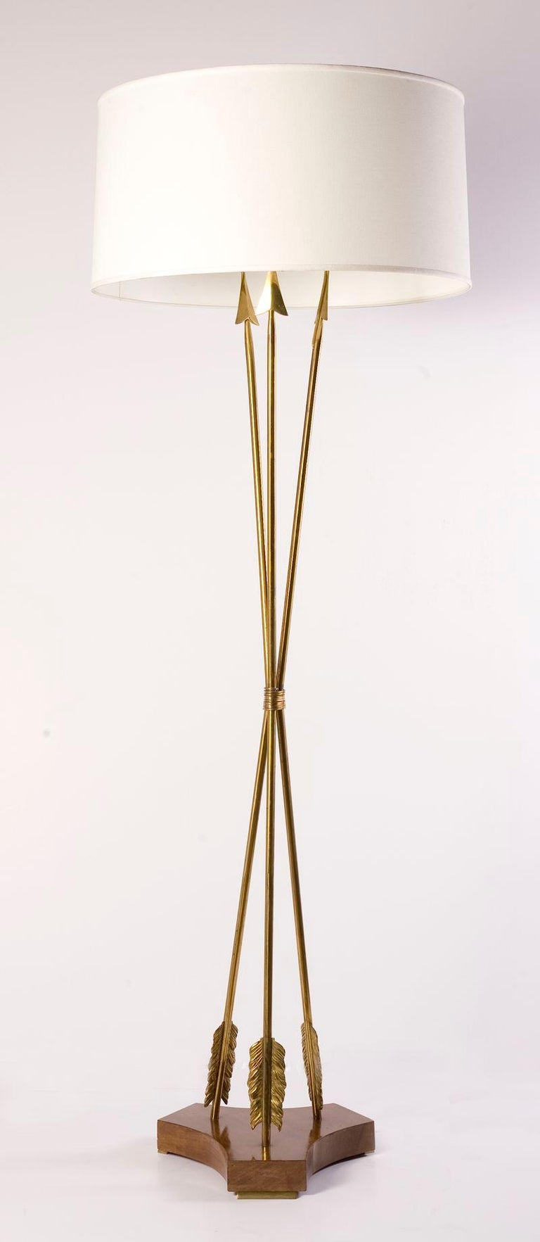 French Mid-Century Floor Lamp, France, C. 1950 For Sale