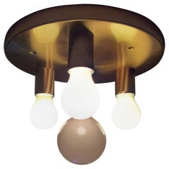 Midcentury Flush Mount, Wall or Ceiling Lamp Sputnik, 1970s