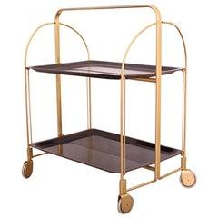 Midcentury Folding Bar Cart Trolley