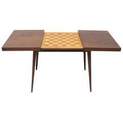 Midcentury Folding Chess Game Table, Czechoslovakia, 1960s