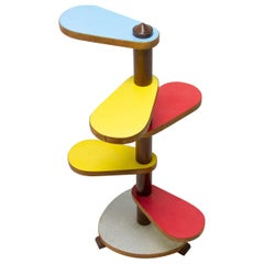 Mid Century Formica and Beech Wood Plant Stand, 1960´s, Czechoslovakia