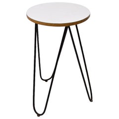 Midcentury Formica and Metal Plant Stand, 1960s, Central Europe