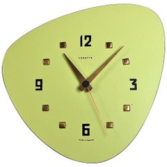 Midcentury Formica Wall Clock by Vedette, France, 1950s