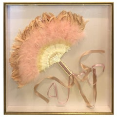 Midcentury Framed Fan, Early 20th Century