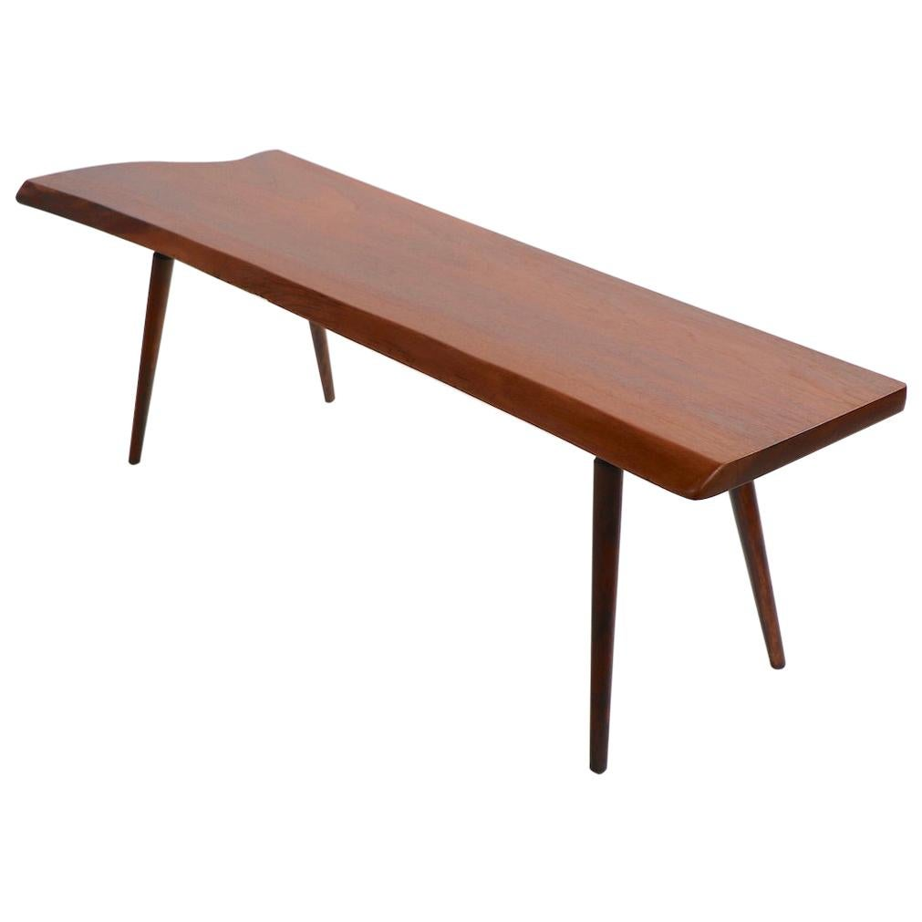 Mid Century Free Edge Coffee Table by Roy Sheldon Dated 1957