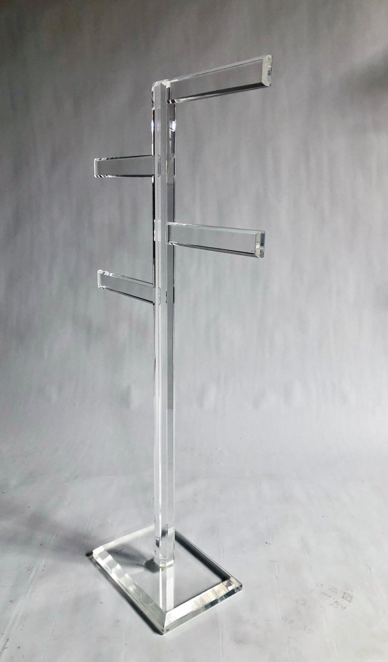 Mid-Century Modern Midcentury Freestanding Lucite Rack For Sale