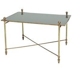 Midcentury French Bronze Coffee Table Jansen Style
