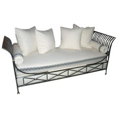 Midcentury French Campaign Daybed by Maison Jansen
