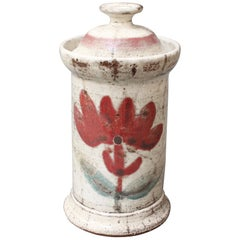 Midcentury French Ceramic Apothecary Jar by Gustave Reynaud for Le Mûrier