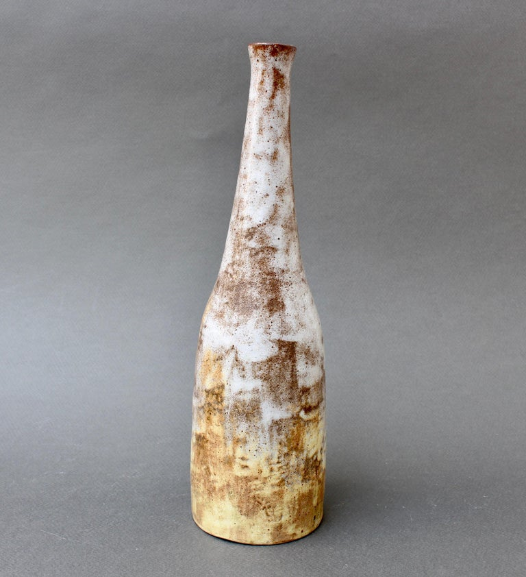 Mid-20th Century Mid-Century French Ceramic Bottle / Vase by Alexandre Kostanda, circa 1960s For Sale