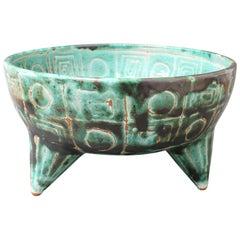 Midcentury French Ceramic Bowl by Robert Picault, circa 1950s