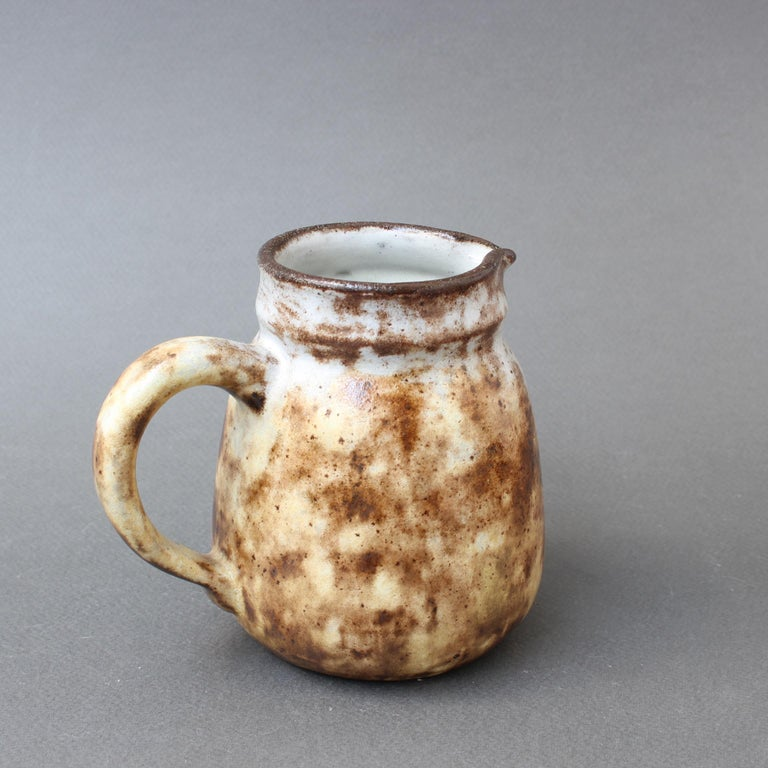 Midcentury French Ceramic Jug by Alexandre Kostanda, circa 1960s, Small In Fair Condition For Sale In London, GB