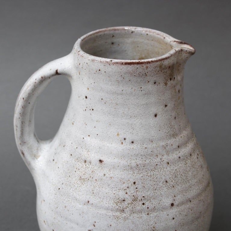 Midcentury French Ceramic Pitcher by Pierlot, circa 1960s For Sale 5