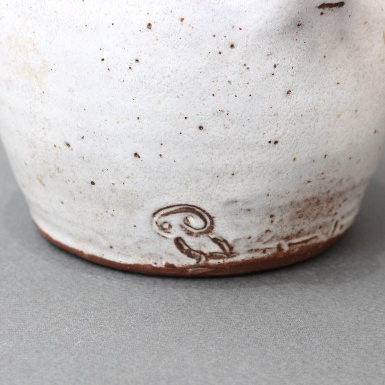 Midcentury French Ceramic Pitcher by Pierlot, circa 1960s For Sale 6