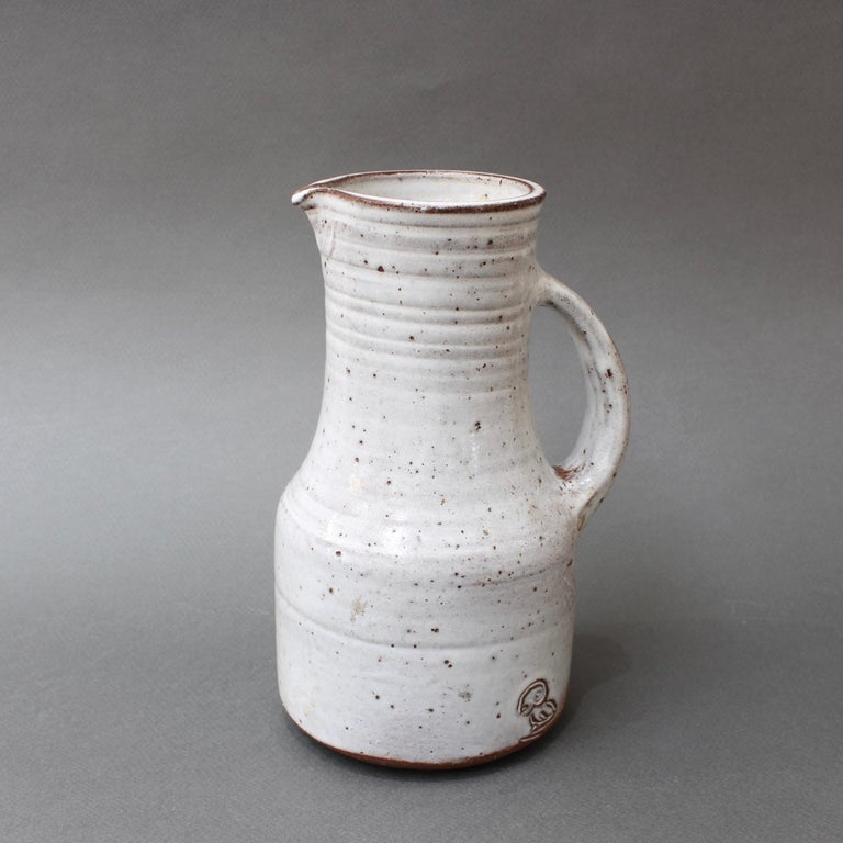 Mid-Century Modern Midcentury French Ceramic Pitcher by Pierlot, circa 1960s For Sale