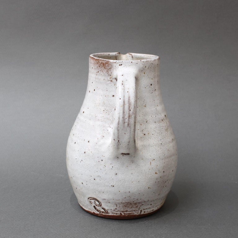 Midcentury French Ceramic Pitcher by Pierlot, circa 1960s In Good Condition For Sale In London, GB