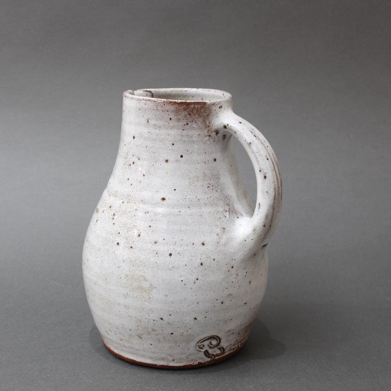 Mid-20th Century Midcentury French Ceramic Pitcher by Pierlot, circa 1960s For Sale