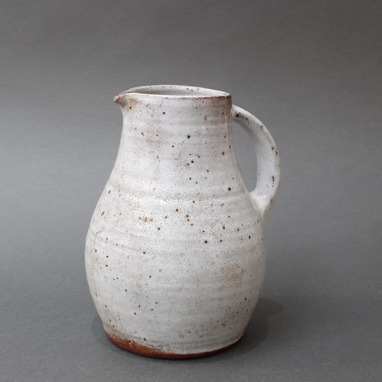 Midcentury French Ceramic Pitcher by Pierlot, circa 1960s For Sale 1