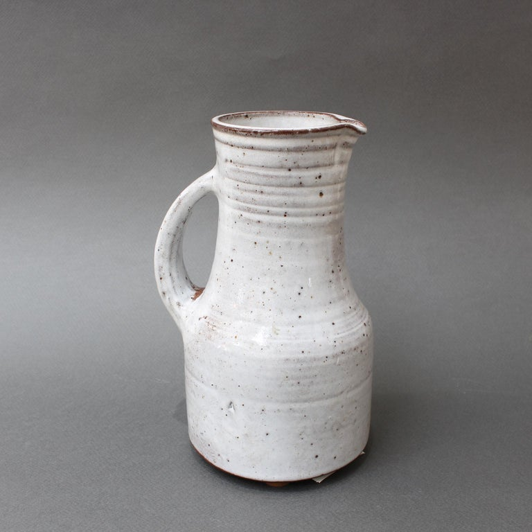 Midcentury French Ceramic Pitcher by Pierlot, circa 1960s For Sale 2