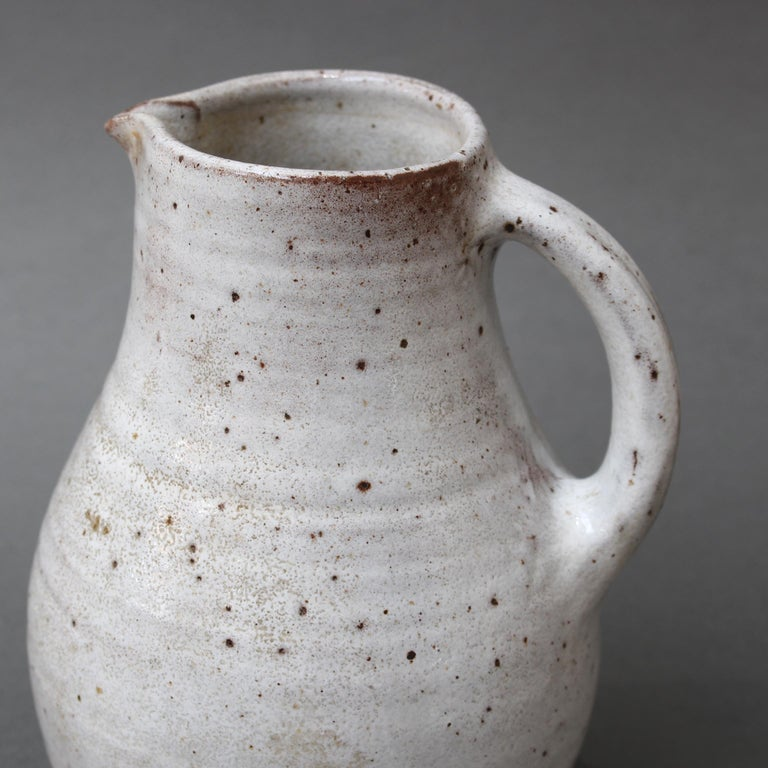 Midcentury French Ceramic Pitcher by Pierlot, circa 1960s For Sale 3